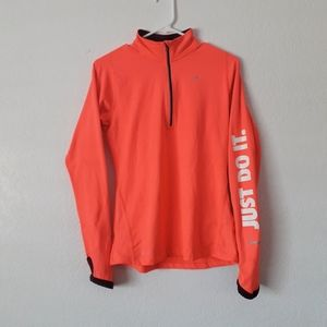 Nike Womens Just Do It Fluorescent Pink Jacket
